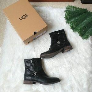 UGG Australia Fabrizia Black Ankle Booties